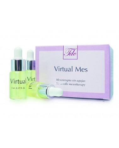 Tegoder Cosmetics Liftingujące ampułki do mezoterapii bezigłowej do twarzy VIRTUAL MES AMPOULES 6x5ml