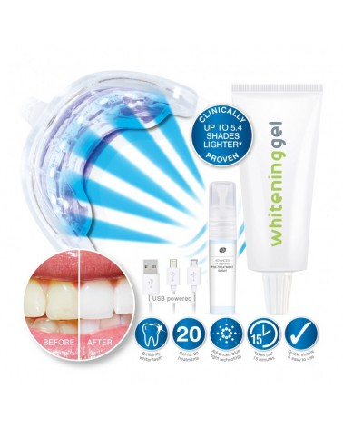 Rio Beauty USB Blue Light Teeth Whitening 1 zestaw