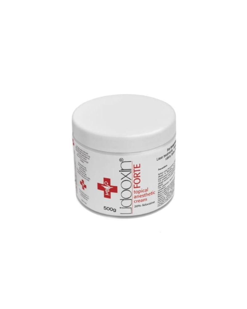 LIDOOXIN FORTE 20% Przedzabiegowy Krem Znieczulający z LIDOKAINĄ 500g
