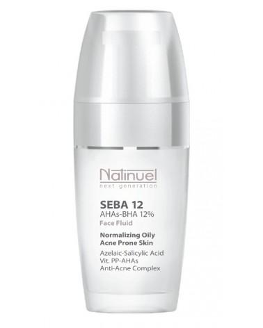 Natinuel SEBA 12 fluid  50ml Preparat na zmiany trądzikowe z kwasami AHAs-BHA 12%