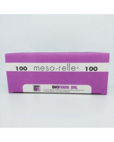 Meso-relle Igła 33G 0,20 x 12mm - 100 sztuk Najcieńsza dostępna igła. Całe opakowanie