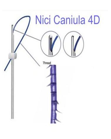 SkinAllure COG Caniula 5-1 21Gx100mm - 5 sztuk Nici liftingujące na kaniuli z wieloma haczykami skierowanymi do siebie