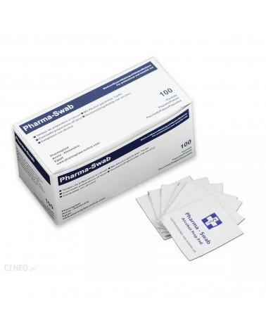 Pharma-Swab Gaziki do dezynfekcji nasączone alkoholem - 100 sztuk