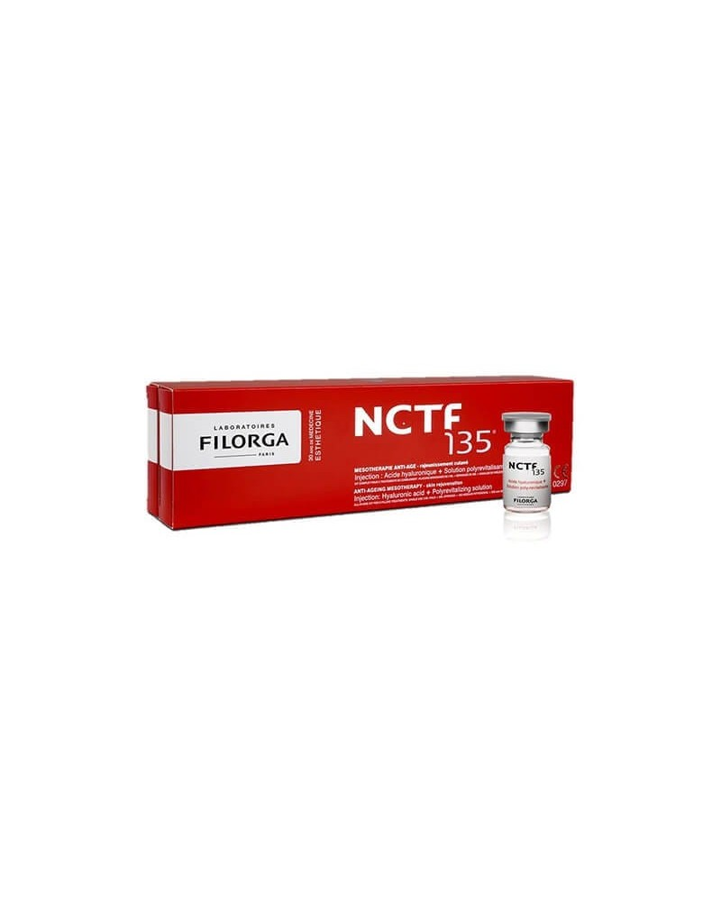Filorga NCTF 135 5x3ml Medyczny koktajl do mezoterapii igłowej. Całe opakowanie z igłami i strzykawkami