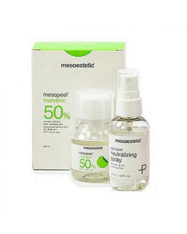 Mesoestetic Zestaw 50% Mandelic Peel AM 50ml + 50ml neutralizator