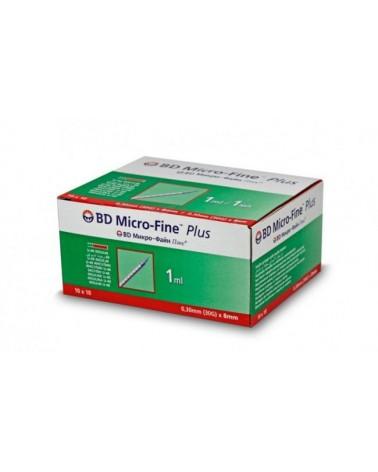 Strzykawka insulinowa BD Micro Fine Plus 30 G 0,30 x 8 mm 1 ml U-40 - 10 szt w 1 opakowaniu zbiorczym