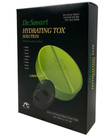 Dr.Smart HYDRATING TOX SOLUTION - Maska Oczyszczająco-Dotleniająca 1 sztuka