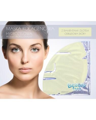 BeautyFace Odmładzająco-Rozświetlająca Maska w płacie kolagenowym ze Złotem i drobinkami złota 1 płat