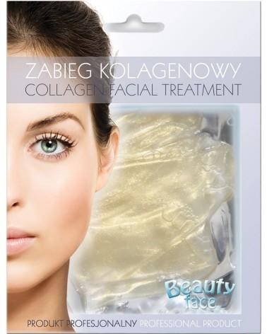 BeautyFace Odmładzająco-Rozświetlająca Maska w płacie kolagenowym ze Złotem i diamentami 1 sztuka