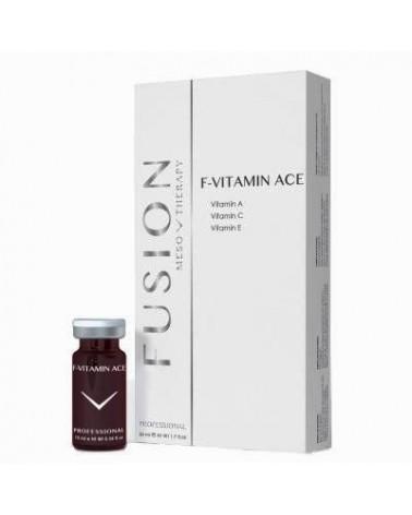Fusion Mesotherapy F-VITAMINS ACE 5x10ml Koktajl z retinolem i witaminami do mezoterapii.  Całe opakowanie