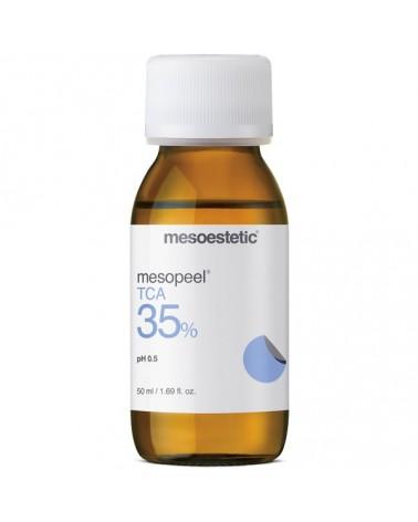 Mesoestetic Mesopeel TCA 35% 50ml. Kwas TCA 35% - nie wymaga neutralizatora. Do rewitalizacji skór dojrzałych