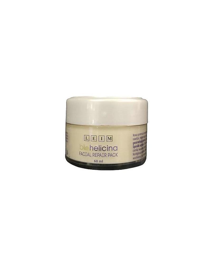 Leim Maska kremowa FACIAL REPAIR Pack rewitalizująca do masażu ze śluzem ślimaka Biohelicina  60 ml