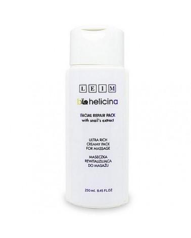 Leim BIOHELICINA Facial Repair Pack 250 ml Maska kremowa rewitalizująca do masażu, ze śluzem ślimaka
