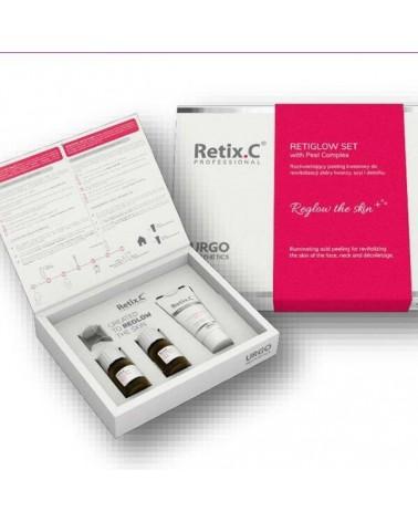 Retix C RETIGLOW SET with Peel Complex Rozświetlający peeling kwasowy